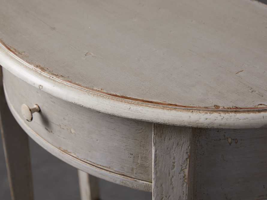 "Artigiano 24"" Half Round End Table"
