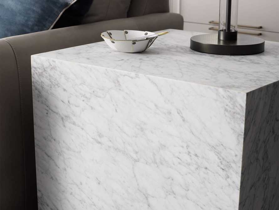 "Aviana 24"" End Table in White Marble, slide 5 of 7"