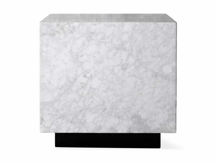 "Aviana 24"" End Table in White Marble, slide 7 of 7"