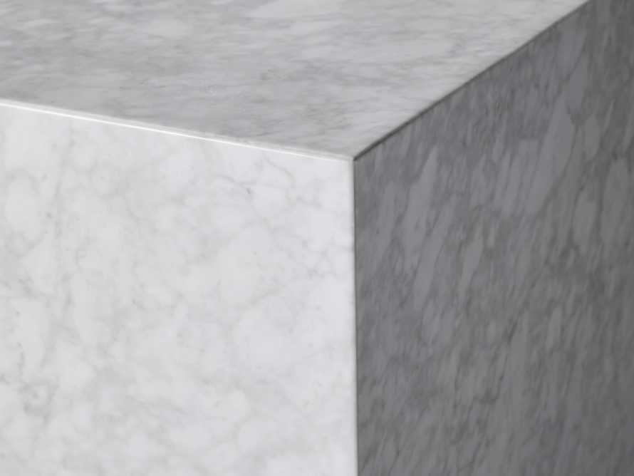 "Aviana 24"" End Table in White Marble, slide 3 of 7"