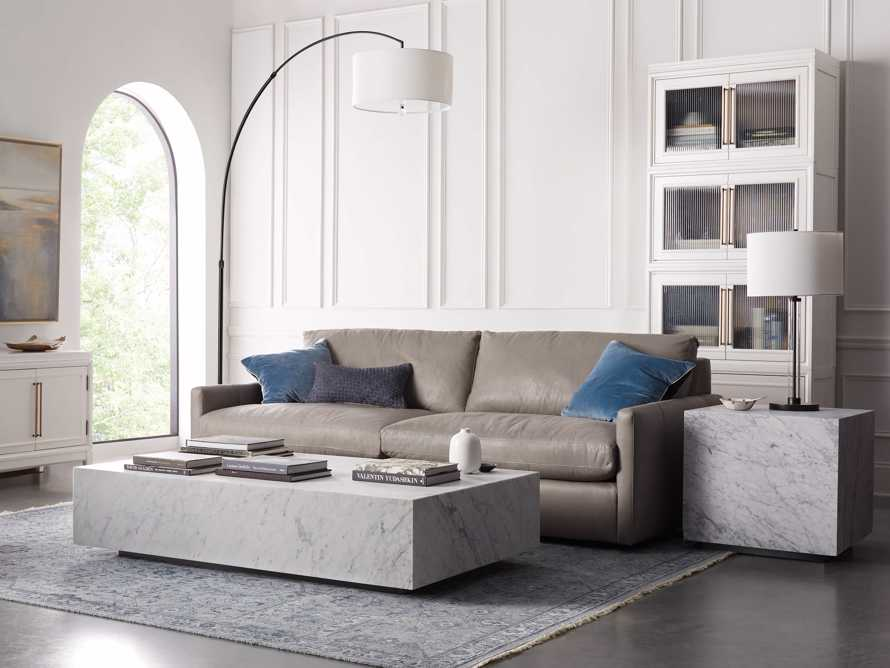 "Aviana 68"" Coffee Table in White Marble, slide 1 of 7"