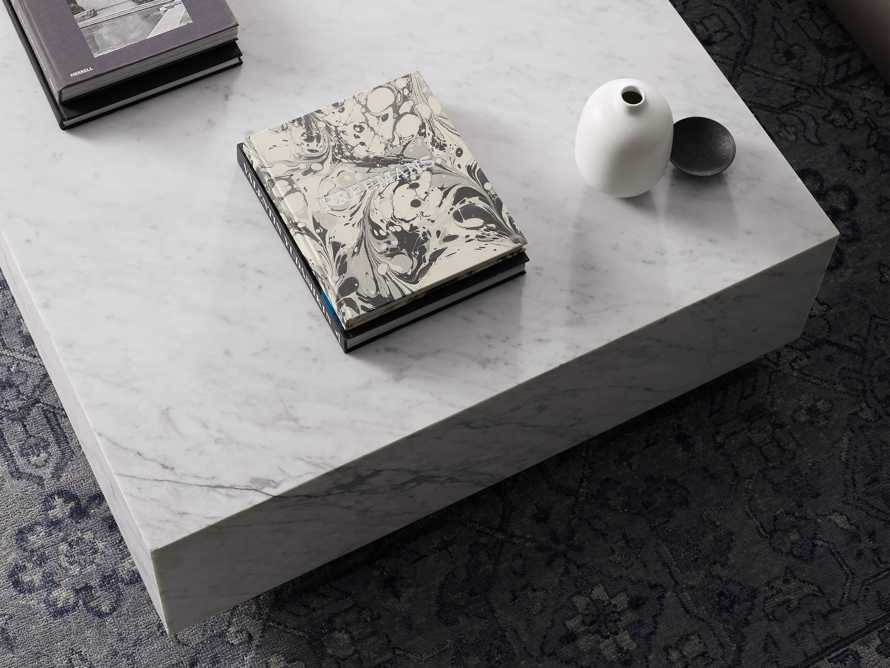 "Aviana 68"" Coffee Table in White Marble, slide 5 of 7"