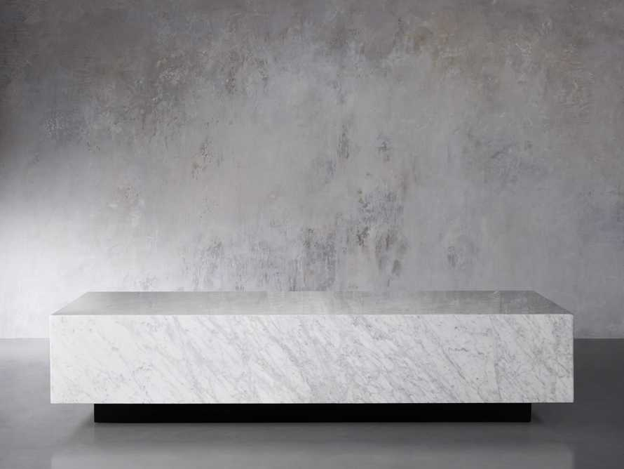 "Aviana 68"" Coffee Table in White Marble, slide 2 of 7"