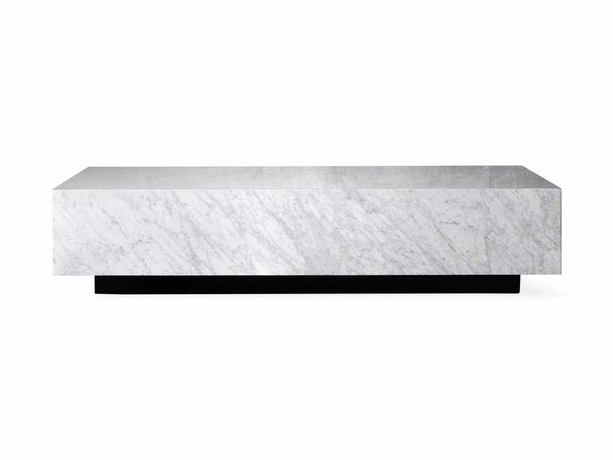"Aviana 68"" Coffee Table in White Marble, slide 7 of 7"
