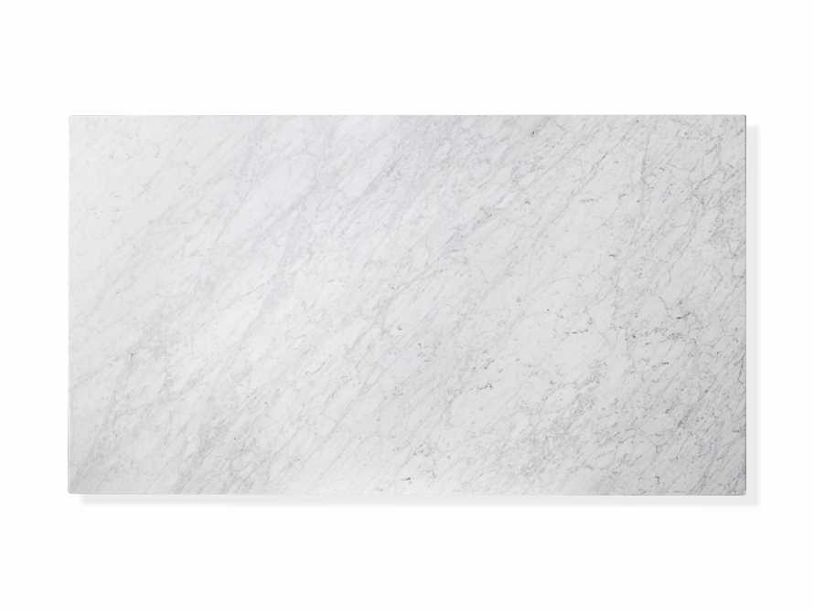 "Aviana 68"" Coffee Table in White Marble, slide 6 of 7"