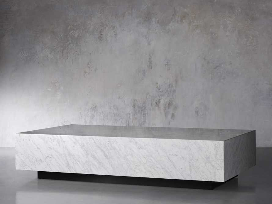 "Aviana 68"" Coffee Table in White Marble, slide 3 of 7"