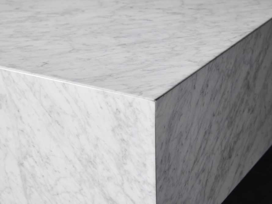 """Aviana 68"""" Coffee Table in White Marble, slide 4 of 7"""