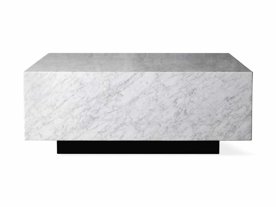 "Aviana 38"" Coffee Table in White Marble, slide 5 of 5"
