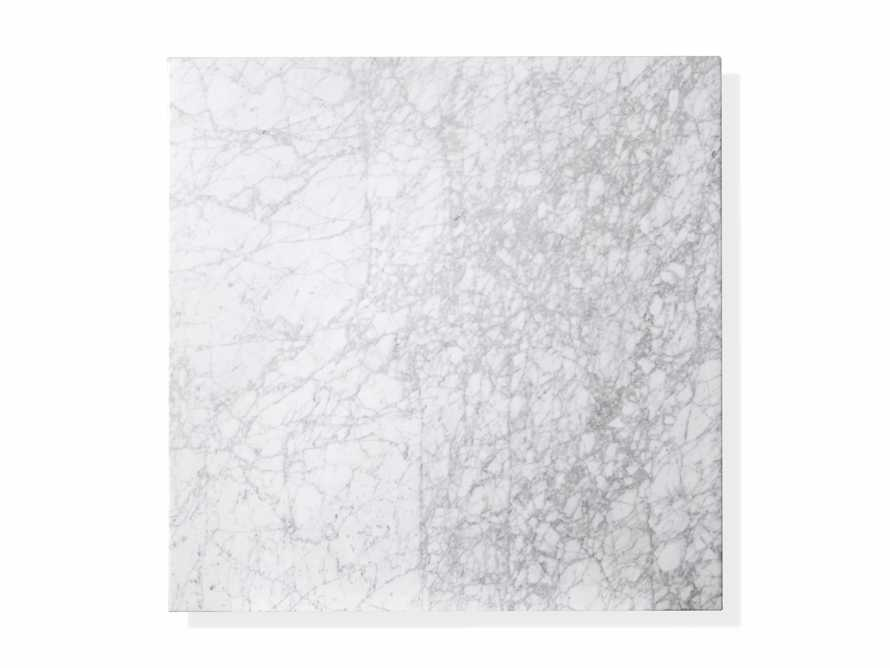"""Aviana 38"""" Coffee Table in White Marble, slide 4 of 5"""