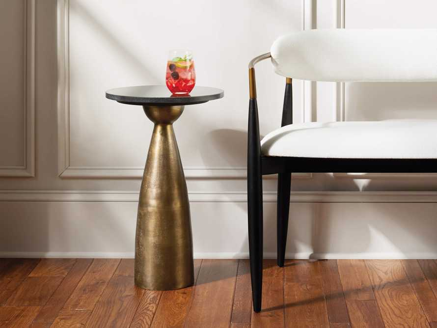 "Martini Tables 14"" Martini Table in Brass, slide 1 of 9"