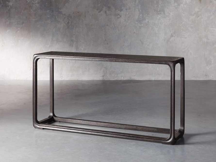 """Bertogne 63"""" Console Table in Dark Ebony, slide 2 of 6"""