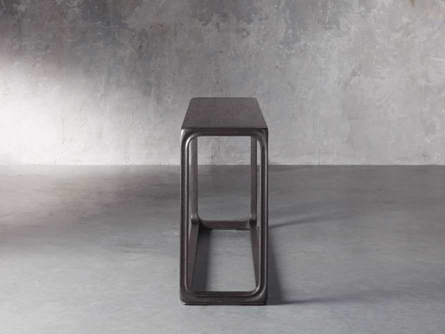 """Bertogne 63"""" Console Table in Dark Ebony, slide 3 of 6"""