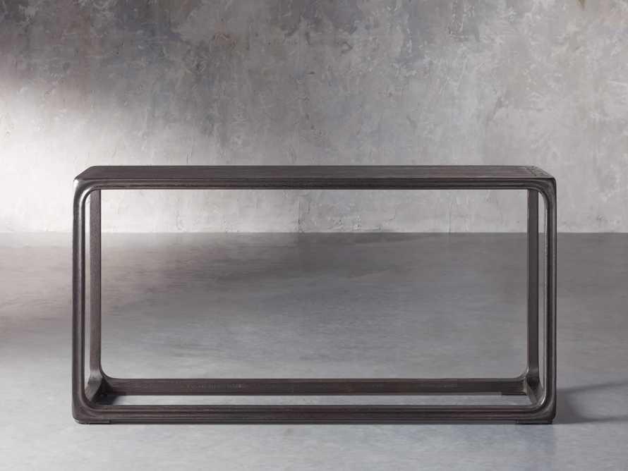 """Bertogne 63"""" Console Table in Dark Ebony, slide 1 of 6"""