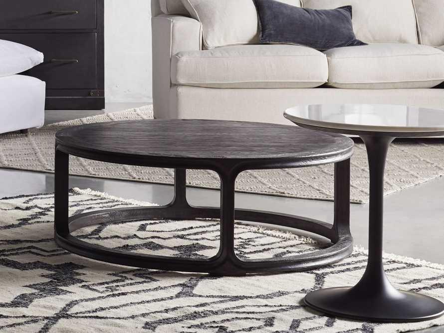 "Bertogne 42"" Round Coffee Table in Dark Ebony, slide 4 of 6"