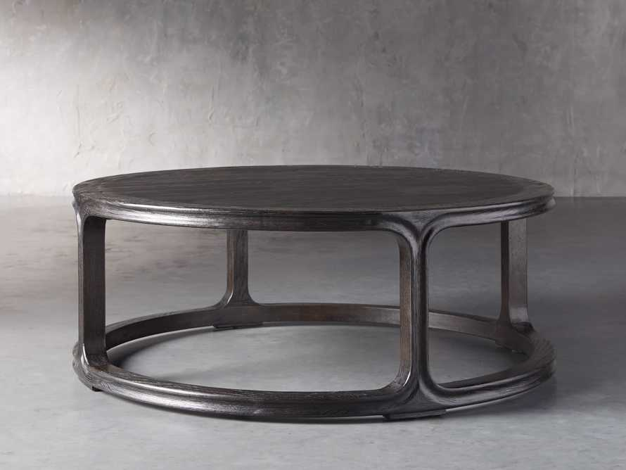 "Bertogne 42"" Round Coffee Table in Dark Ebony, slide 2 of 6"