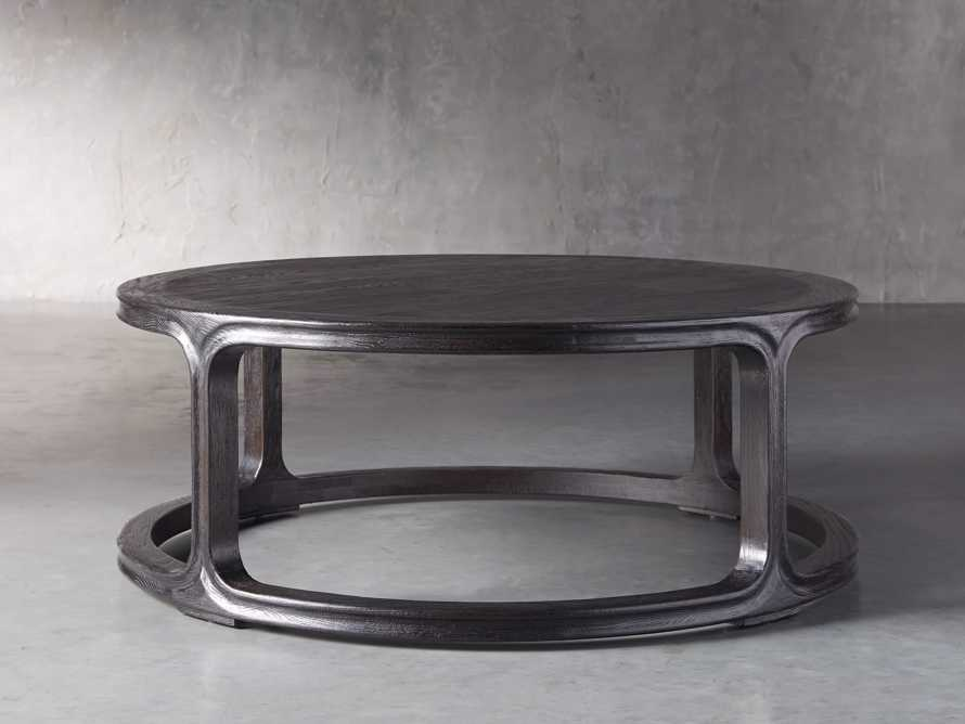 "Bertogne 42"" Round Coffee Table in Dark Ebony, slide 1 of 6"