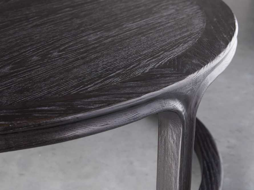 "Bertogne 42"" Round Coffee Table in Dark Ebony, slide 3 of 6"