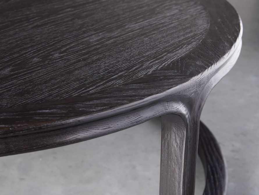 "Bertogne 42"" Round Coffee Table in Dark Ebony, slide 3 of 6"
