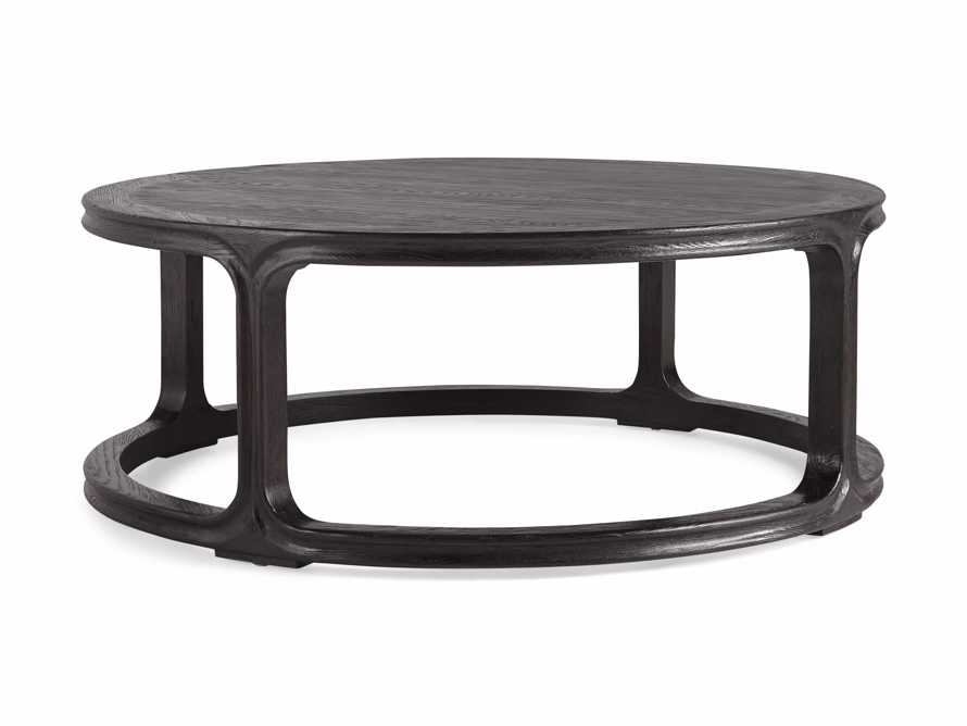 "Bertogne 42"" Round Coffee Table in Dark Ebony, slide 5 of 6"
