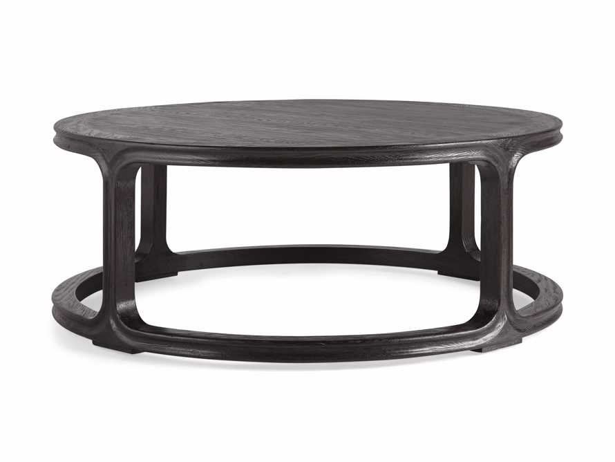 "Bertogne 42"" Round Coffee Table in Dark Ebony, slide 6 of 6"