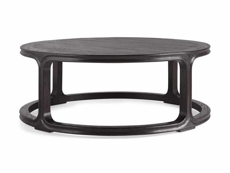 "Bertogne 42"" Round Coffee Table in Dark Ebony, slide 6 of 6"