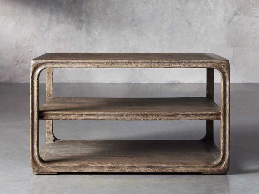 """Bertogne 38"""" Shelf End Table in Bertogne Brown, slide 1 of 8"""