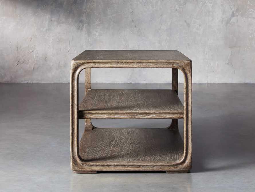 """Bertogne 38"""" Shelf End Table in Bertogne Brown, slide 3 of 8"""
