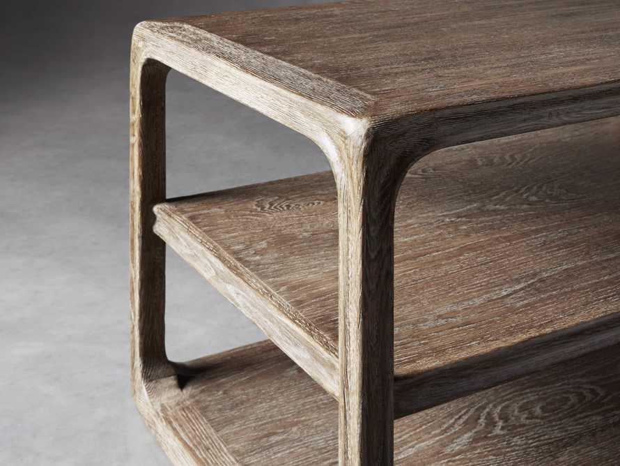 """Bertogne 38"""" Shelf End Table in Bertogne Brown, slide 4 of 8"""