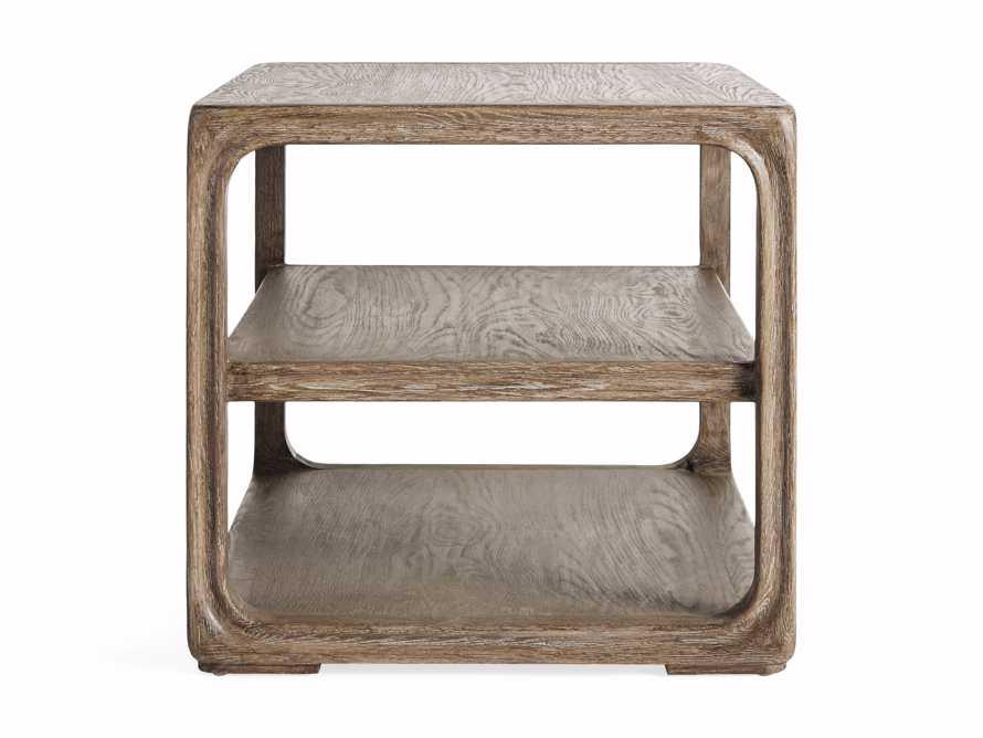 """Bertogne 38"""" Shelf End Table in Bertogne Brown, slide 7 of 8"""