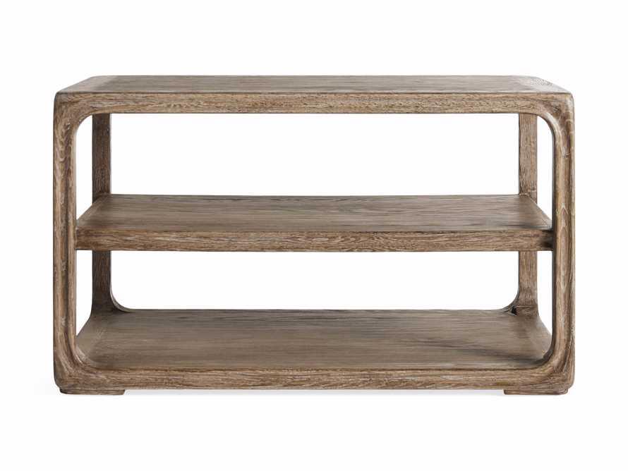 """Bertogne 38"""" Shelf End Table in Bertogne Brown, slide 6 of 8"""