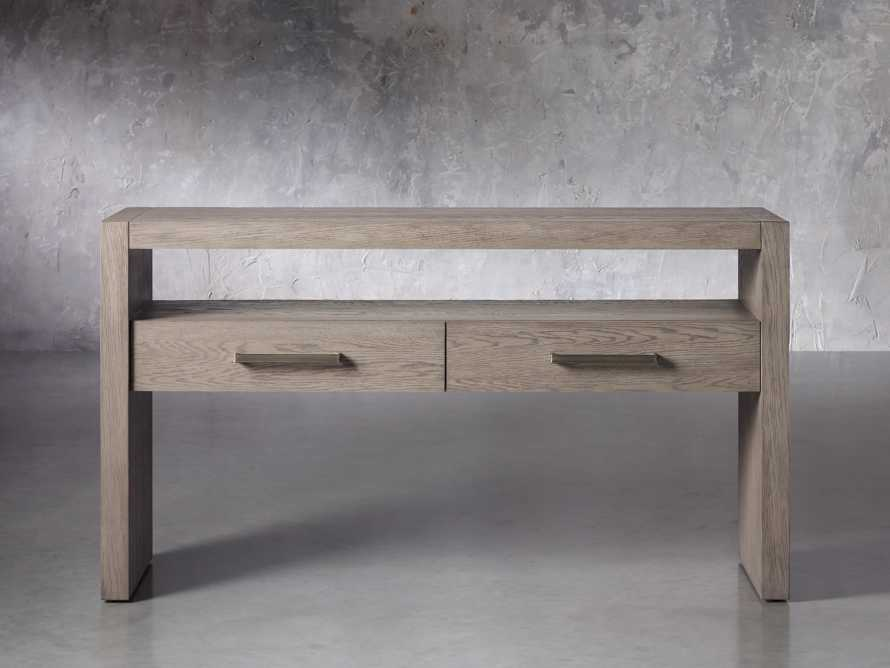 """Bodhi 60"""" Console Table in Salvaged Grey, slide 1 of 5"""