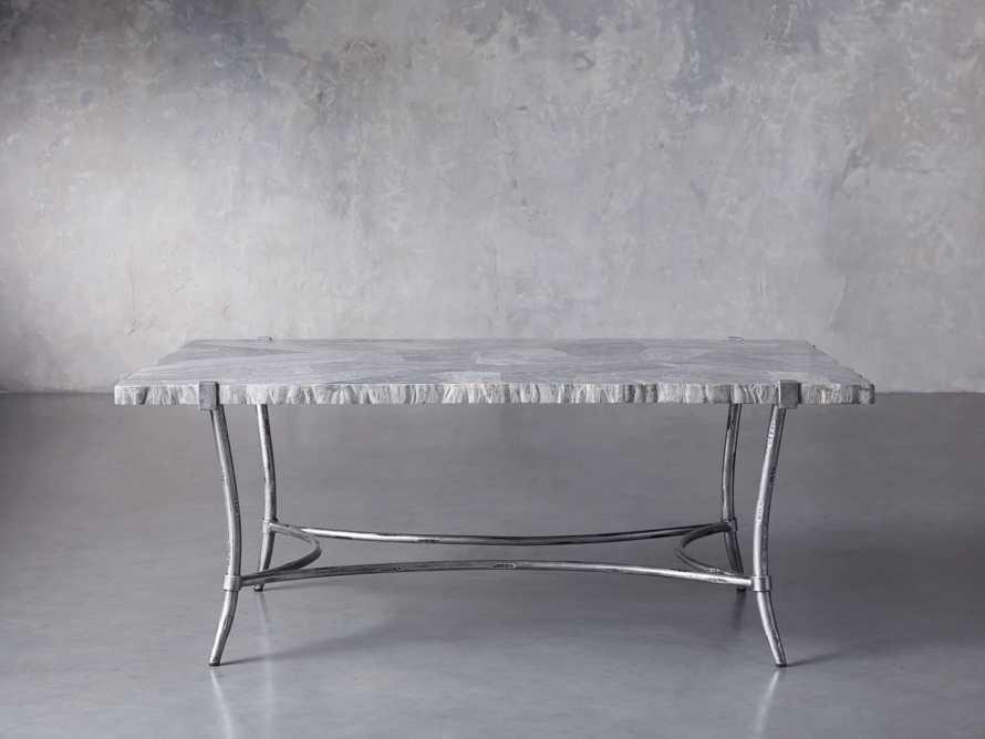 "Boracay 48"" Rectangle Grey Marble Coffee Table, slide 1 of 8"