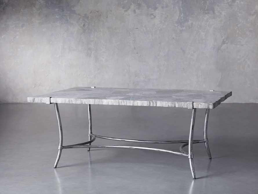 "Boracay 48"" Rectangle Grey Marble Coffee Table, slide 2 of 8"