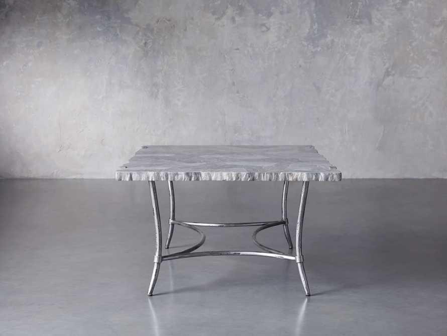 "Boracay 48"" Rectangle Grey Marble Coffee Table, slide 3 of 8"