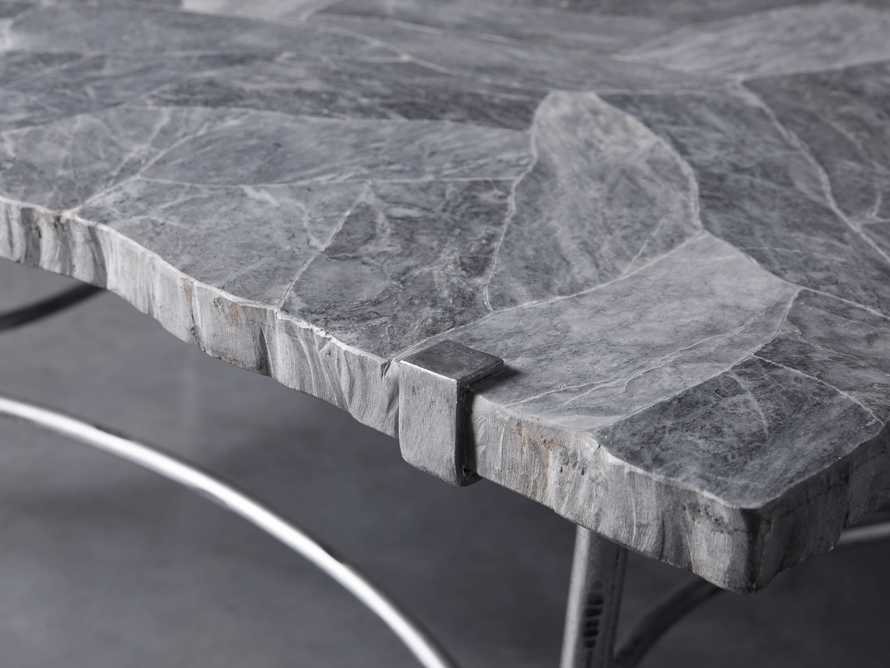 "Boracay 48"" Rectangle Grey Marble Coffee Table, slide 5 of 8"