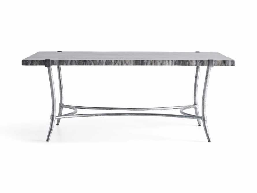 "Boracay 48"" Rectangle Grey Marble Coffee Table, slide 7 of 8"