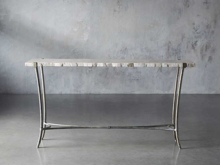 Boracay Console Table in Platinum, slide 1 of 7