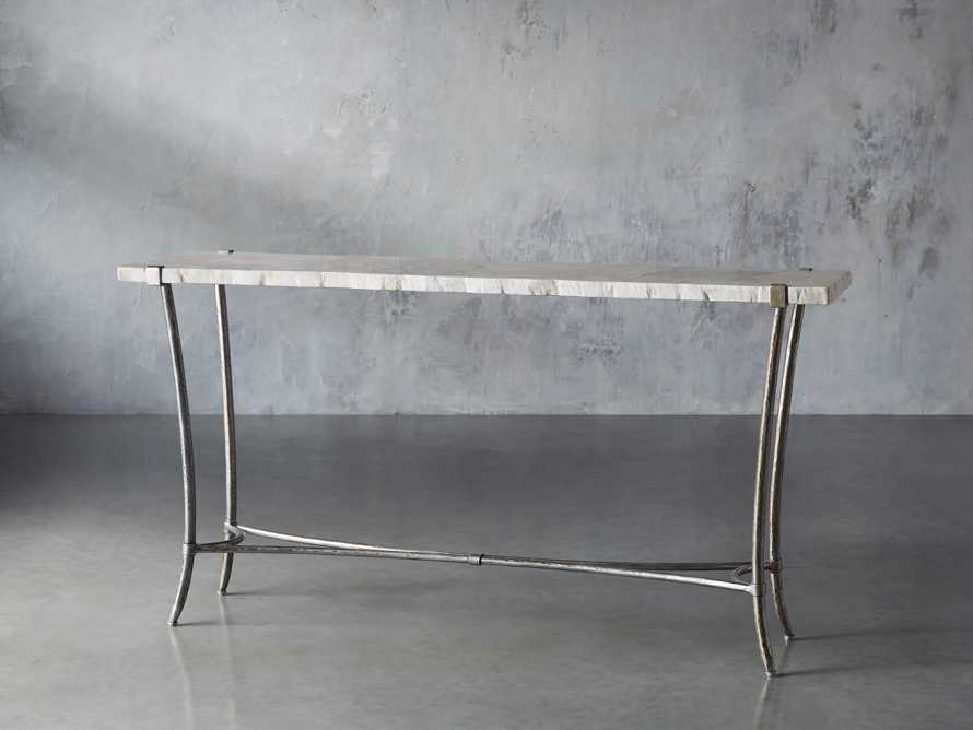 Boracay Console Table in Platinum, slide 2 of 7