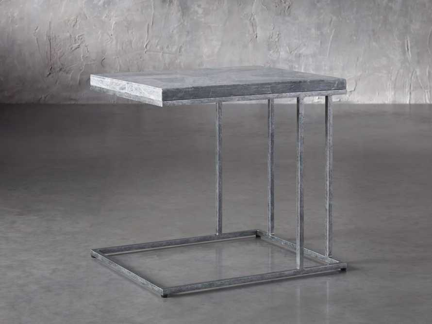 "Boracay 24"" Century Marble C Table in Grey, slide 1 of 6"