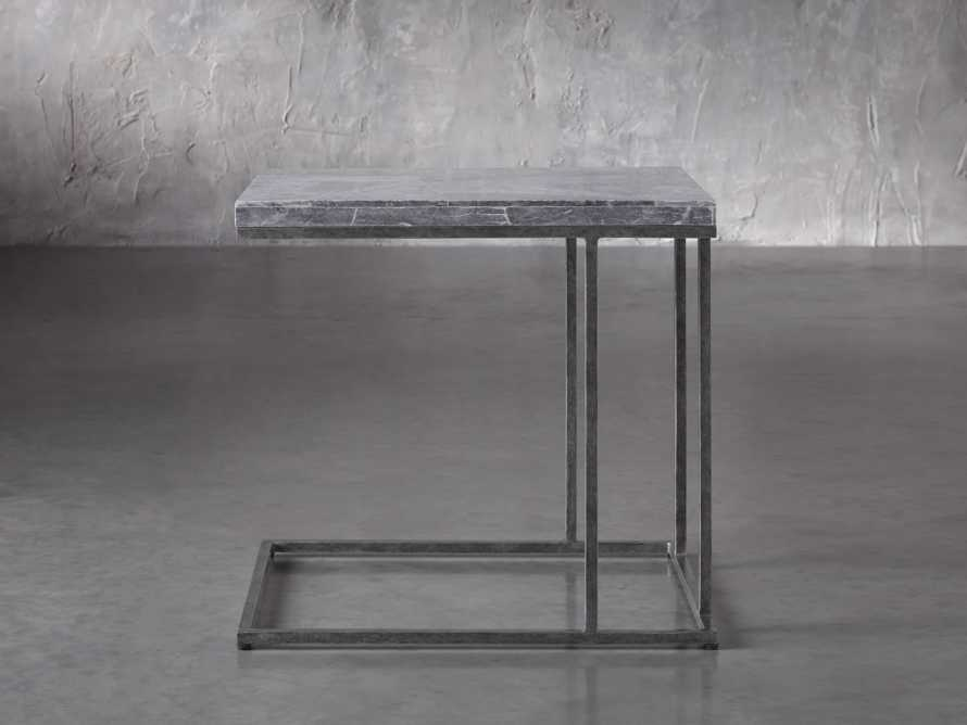 "Boracay 24"" Century Marble C Table in Grey, slide 2 of 6"