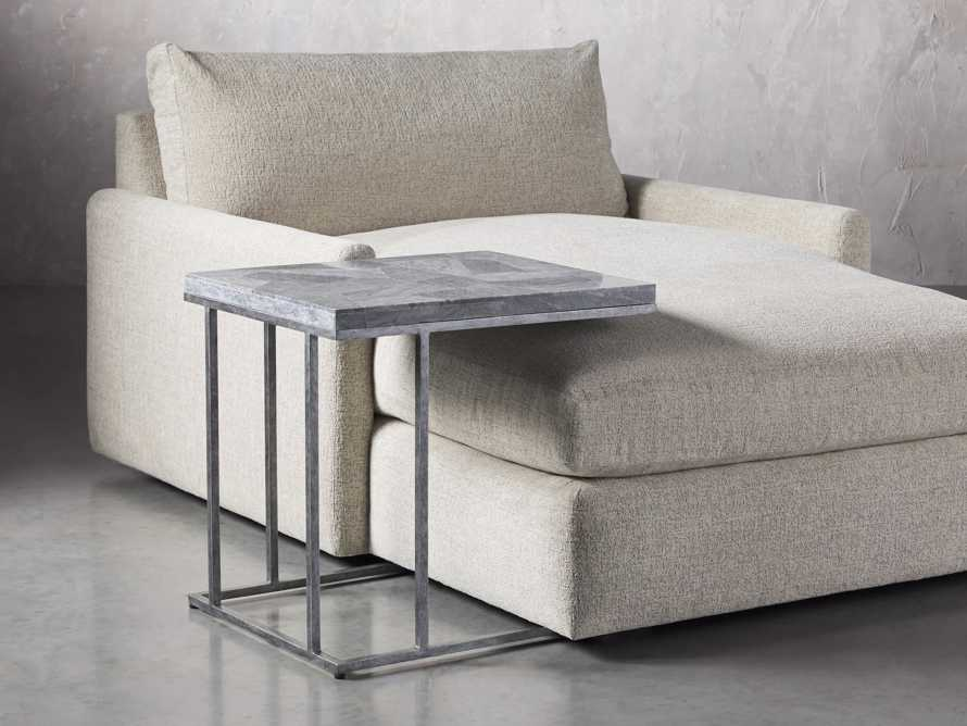 "Boracay 24"" Century Marble C Table in Grey, slide 4 of 6"