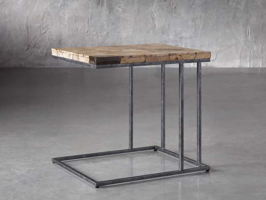 "Boracay 24"" Petrified Wood C Table, slide 1 of 6"