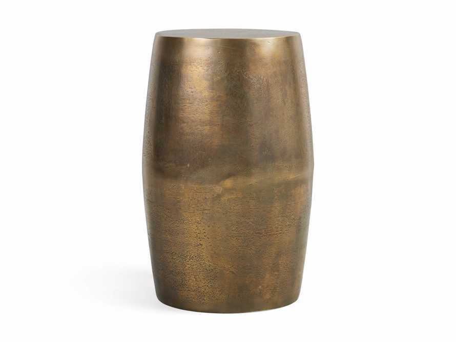 Hammered Brass Drum End Table, slide 3 of 7
