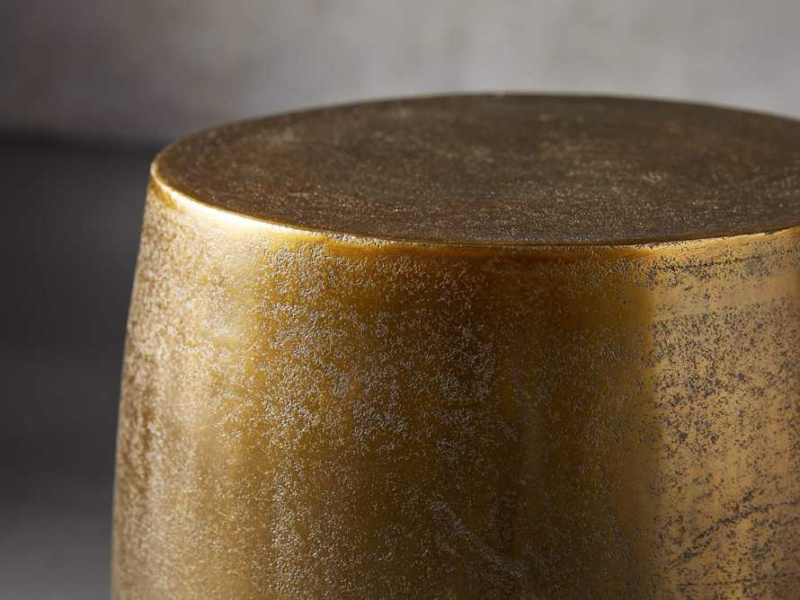 Hammered Brass Drum End Table, slide 2 of 10