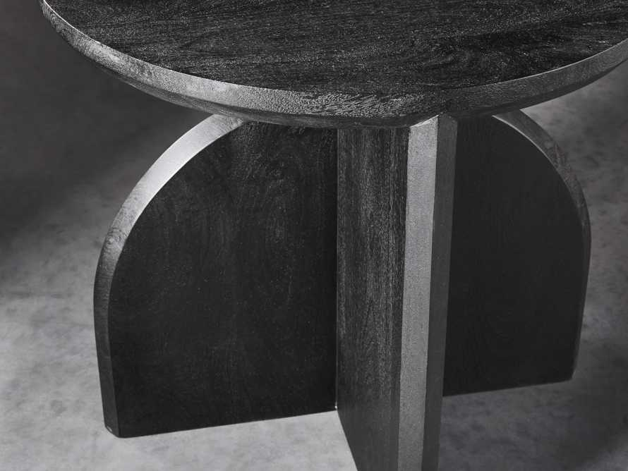 "Calderone 26"" Mango Wood End Table in Black Matte, slide 3 of 5"