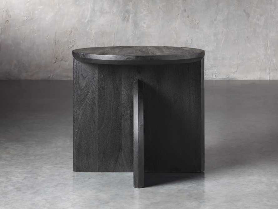 "Calderone 26"" Mango Wood End Table in Black Matte, slide 2 of 5"