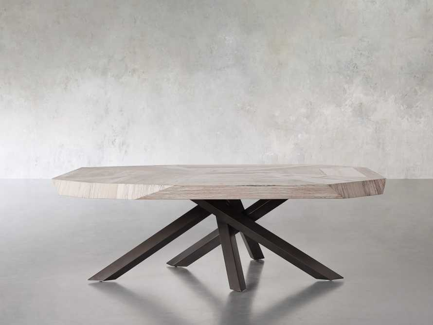 """Carrinna 56"""" Coffee Table in Bleached Aged, slide 2 of 7"""