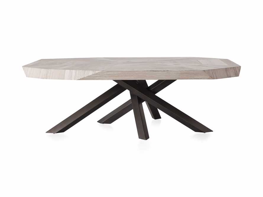 """Carrinna 56"""" Coffee Table in Bleached Aged, slide 6 of 7"""
