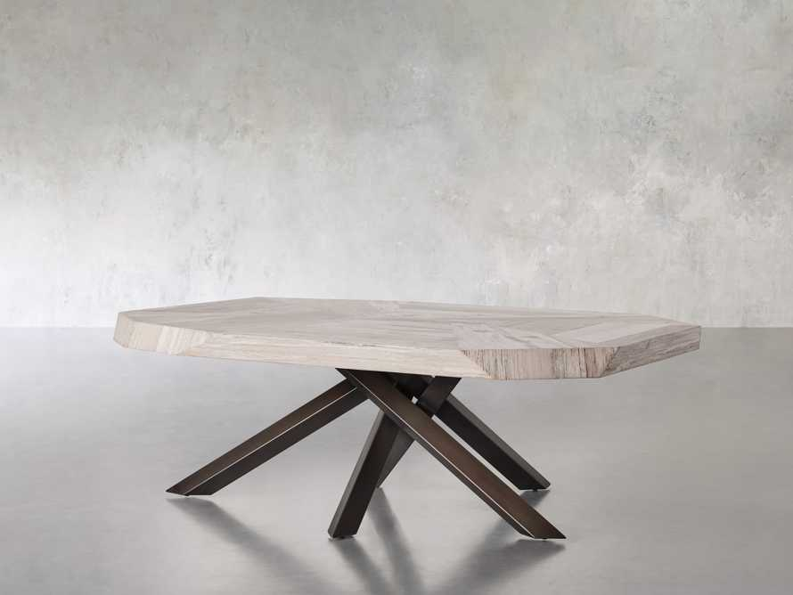 """Carrinna 56"""" Coffee Table in Bleached Aged, slide 3 of 7"""