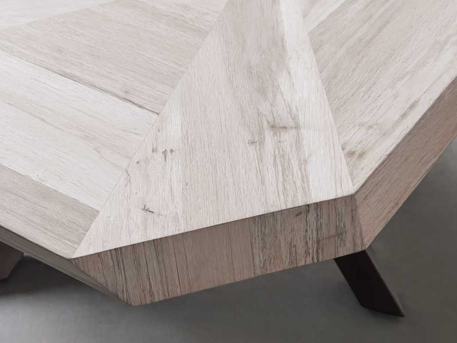 """Carrinna 56"""" Coffee Table in Bleached Aged, slide 4 of 7"""